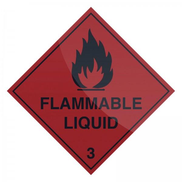 Fixman - Warnschild ?Brennbare Flüssigkeit?