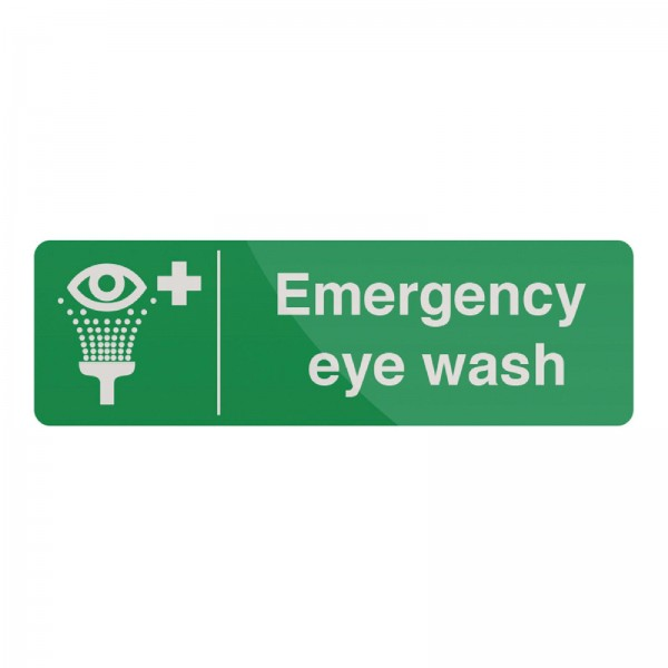 Fixman - Hinweisschild auf Notfall-Augenspülstation