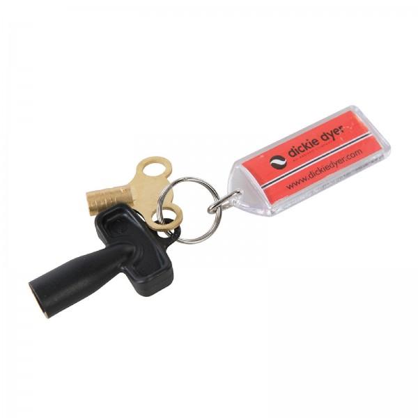Dickie Dyer - Schlüsselanhänger mit Zählerkasten- und Entlüftungsschlüsseln, 3-tlg. Satz