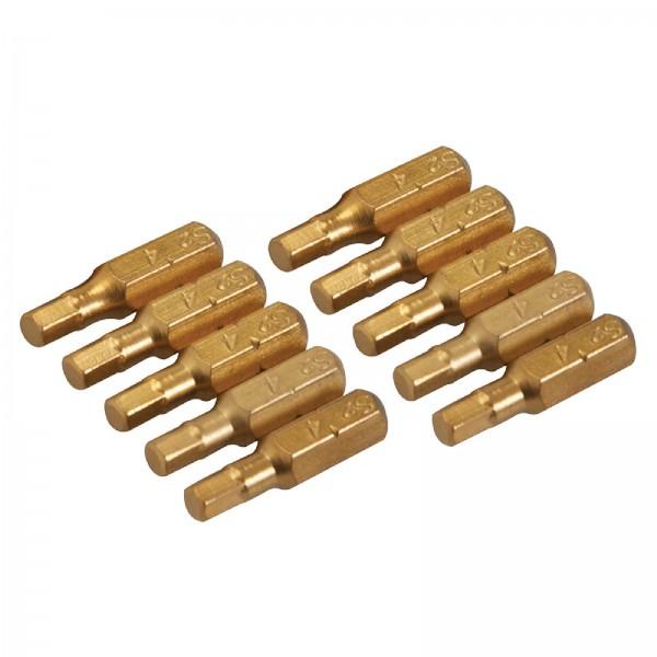 Silverline - Innensechskant-Schraubendreher-Gold-Bits, 10er-Pckg.
