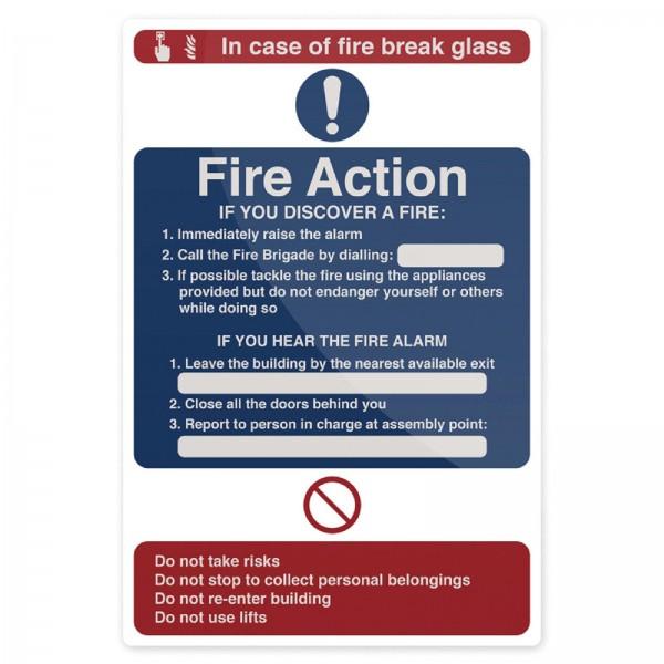 Fixman - Hinweisschild über Maßnahmen im Brandfall
