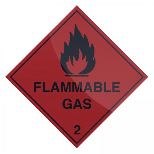 Fixman - Warnschild ?Brennbares Gas?