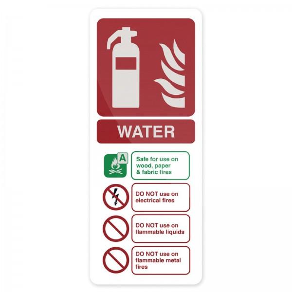 Fixman - Hinweisschild Wasser-Feuerlöscher nach EN 3