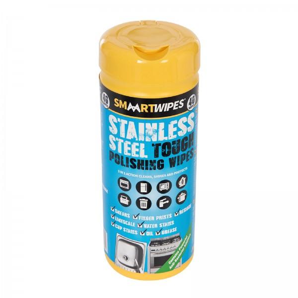 SMAART - Strapazierfähige Edelstahl-Poliertücher, 40er-Pckg.