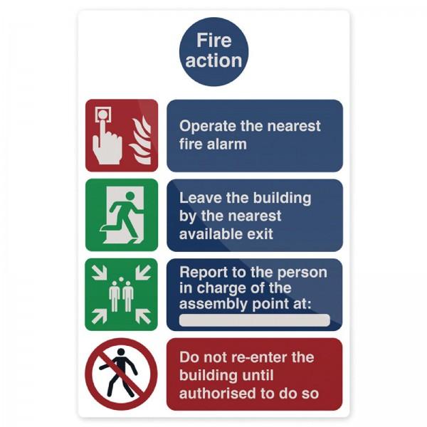 Fixman - Hinweisschild über Vorgehensweise im Brandfall