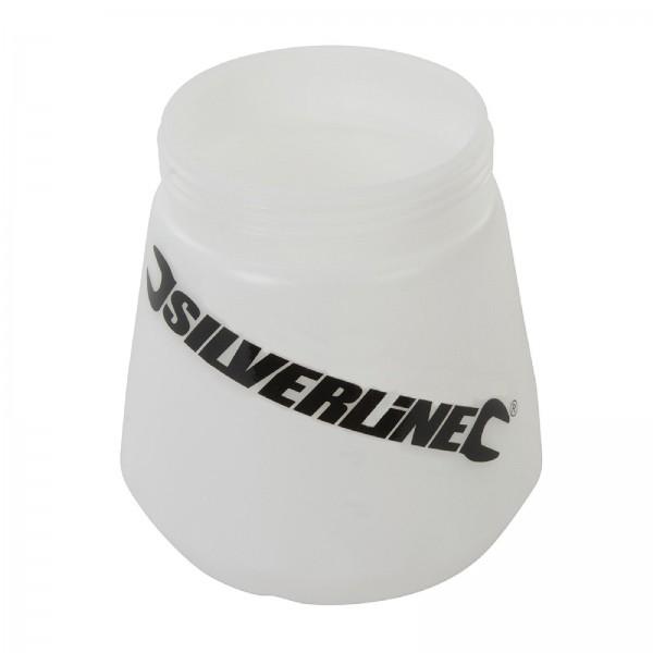 Silverline - Durchsichtiger Kunststoff-Farbbehälter für Niederdruck-Spritzpistolen, 700 ml