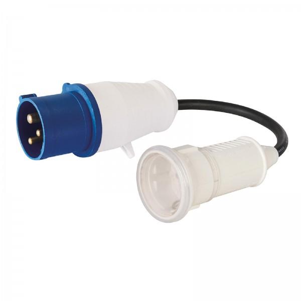 PowerMaster - Adapterkabel 16-A-CEE-Stecker (230 V) auf 16-A-Schukosteckdose