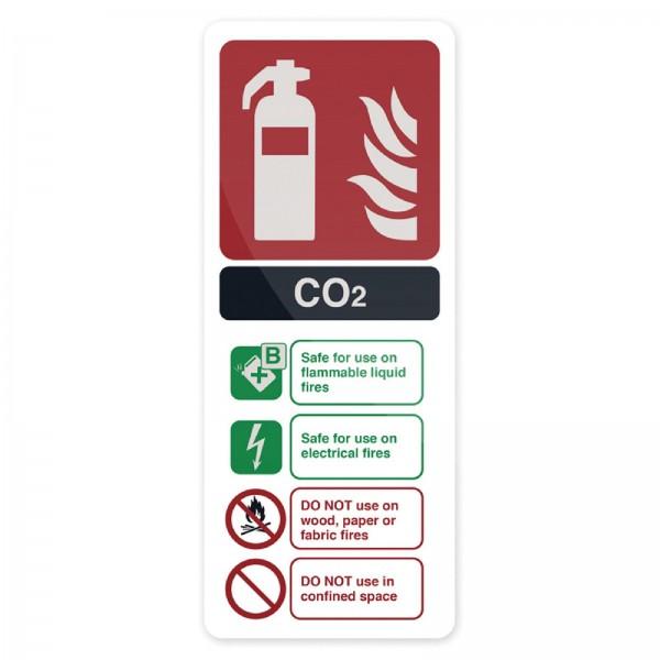 Fixman - Hinweisschild Kohlendioxid-Feuerlöscher nach EN 3
