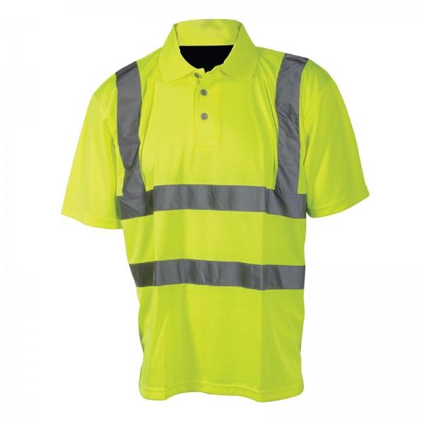 Silverline - Warnschutz-Polohemd, Schutzklasse 2