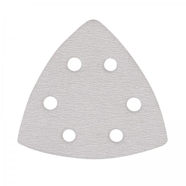 Silverline - Stearatbeschichtete Delta-Klettschleifblätter, 90 mm, 10er-Pckg.