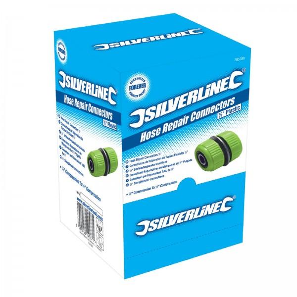Silverline - Reparatur-Schlauchverbinder, 1/2 Zoll, Verkaufsdisplay, 50 Stck.
