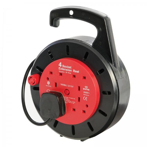 PowerMaster - Geschlossene britische Kabeltrommel, 230 V