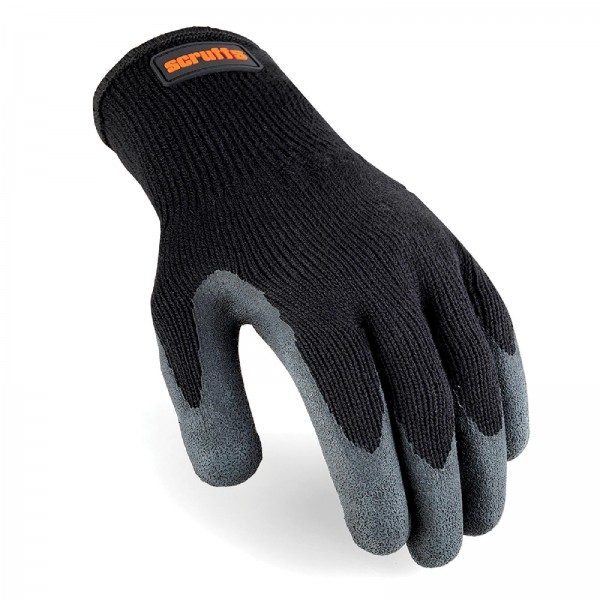 Scruffs - Latexbeschichtete Schutzhandschuhe, schwarz